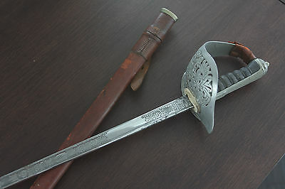 Antique Wilkinson British Infantry Officer's Dress Sword with Scabbard (1938)