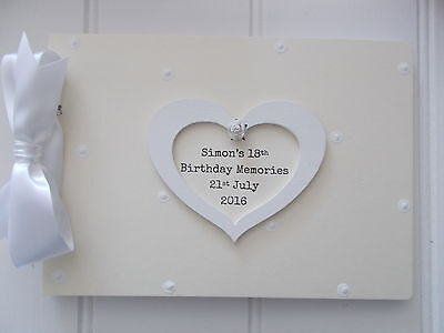 Personalised 18Th Birthday Guest Book Memory Scrapbook Quick Posting A5 Or A4