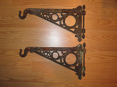 Antique Arts & Crafts Era Wall Brackets Chicago Architectural Interior Decorate