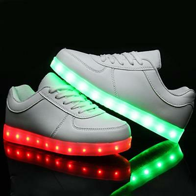 Luminous Casual Street Fashion Sneakers Shoes with LED Light for Girls and Women