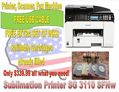 SUBLIMATION INK RICOH Aficio SG 3110 SFNw - Save Yourself Headaches with  Epson!