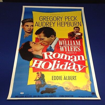 Gregory Peck Signed Autographed Roman Holiday 27x39 Movie Poster - PSA/DNA
