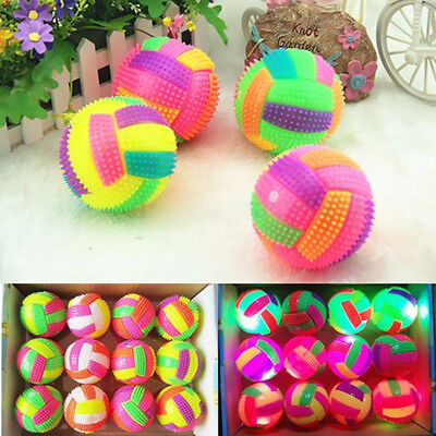 LED Volleyball Flashing Light Up Color Changing Bouncing Ball Toy For Kids Child