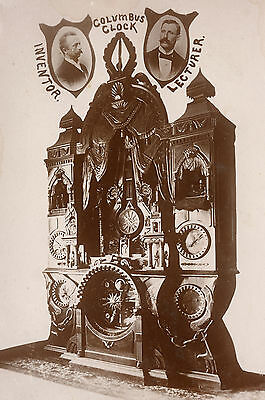 Antique Columbus Oh Clock Invention Astronomical Automated Rare Cabinet Photo