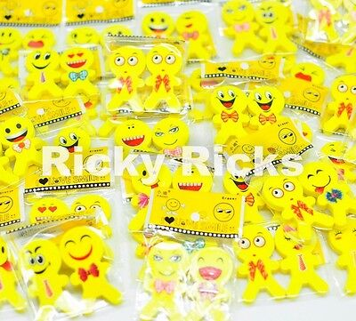Emoji 1 inch Erasers lot of 72
