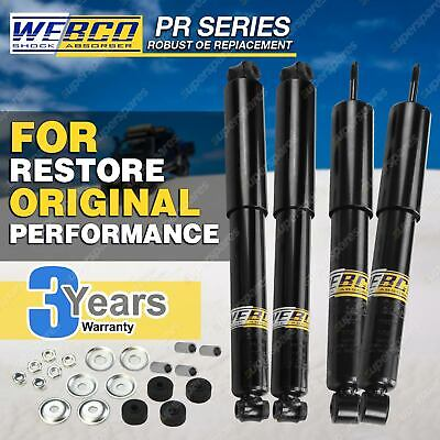 Front + Rear PR Webco Pro 4x4 Shock Absorbers HOLDEN RODEO RA Torsion Bar Front