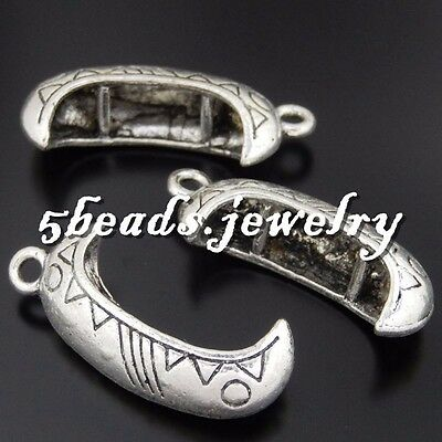 8x Vintage Gold Alloy Hollow Carving Sector Charms Pendants Crafts Finding 50785