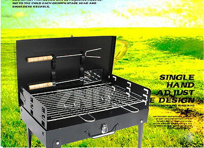 Portable Notebook Grill BBQ Foldable Charcoal Camping Barbecue Picnic