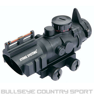 Strike Systems 16458 4x32 Red Dot Scope Sight Scope With Fibre Optics