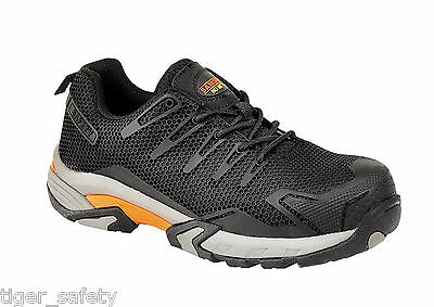 Samson XL 7765 S1P Black Composite Toe Cap Metal Free Safety Trainers Work Shoes