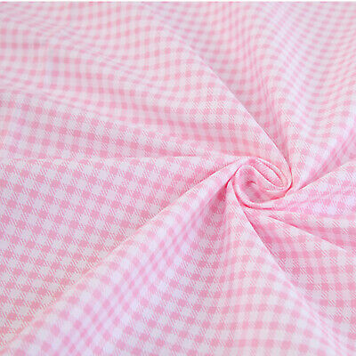Pink and White Check Gingham Cotton Fabric - Bedding Sheeting Home Decor Craft