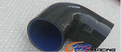 """BLACK 4"""" inch 90 Degree Elbow Coupler Silicone Hose 102mm Intercooler Turbo Pipe"""
