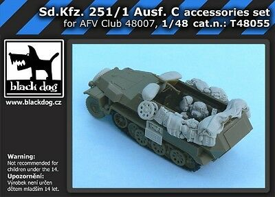 BLACK DOG SD KFZ 251/1 AUSF C ACCESSORIES SET FOR AFVCLUB  Scala 1:48 cod.T48055
