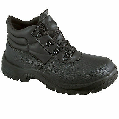 Chukka Safety Work Boots Leather Steel Toe Cap & Midsole Mens Size 3-13 New