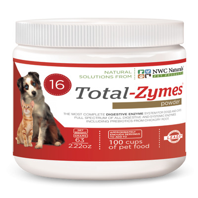 NWC Naturals  Total-Zymes® for Pets 63 g - Enzyme supplement for pets - UK Stock