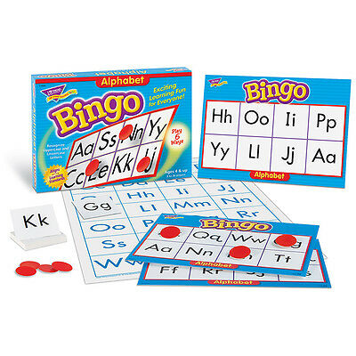 Trend Enterprises ALPHABET Bingo Board Game Ages 4 And Up (6062)