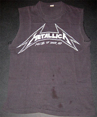 Metallica Metal Up Your Ass **RARE 1st EVER** Demo Era Vintage Tour Shirt THRASH
