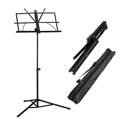 Adjustable Metal Sheet Music Stand Holder Folding Foldable WITH CARRY CASE BAG