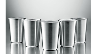 Party Cups (16 Oz.) Stainless Steel Pint Glass Stack Cups Beer Pong Kitchen New