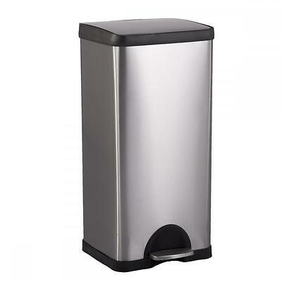 New BestOffice 10 Gallon/ 38L Step Stainless-Steel Trash Can Kitchen S38