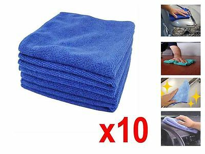 10x LARGE MICROFIBRE CLEANING TOWELS SOFT CLOTHS DUSTERS HOME CAR OFFICE WINDOWS