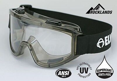 Elvex Visionaire Safety Goggles Clear Anti-Fog Anti-Scratch Over Fit Z87.1