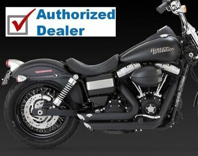 Vance & Hines Black Shortshots Exhaust Pipes Harley Dyna 2012-2017 47227