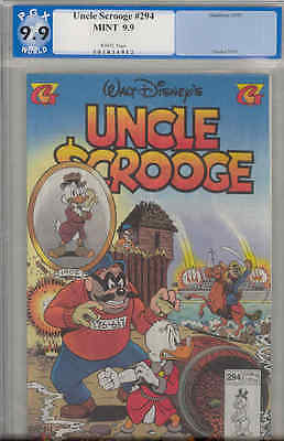Uncle Scrooge #294 PGX 9.9 MINT : 1995 Don Rosa
