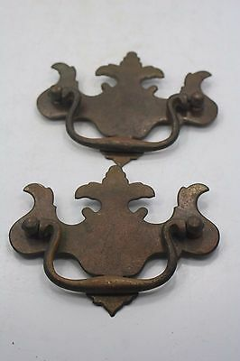 "2 Vintage Drawer Pulls #CB1006 - 4"" Wide x 3 1/4"" High"