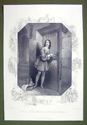 PRUSSIA Prisoner of Spandau Young Maiden - SUPERB Quality Print Engraving