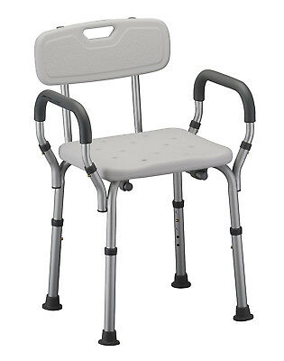 Heavy Duty Aluminium Bathroom Aid Stool Medical Shower Chair Mobility Aid Seat