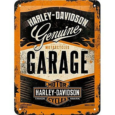 "Harley Davidson Garage small metal sign 8"" x 6""   (na 2015)"