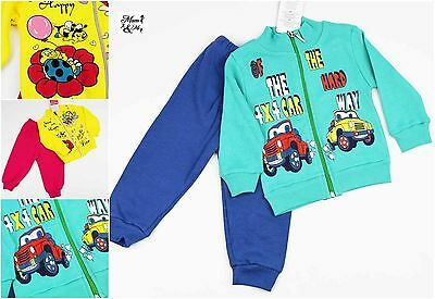 2 Pcs Girls  Boys Tracksuit Kids Set Sportswear Trousers Long Sleeve Top Outfit