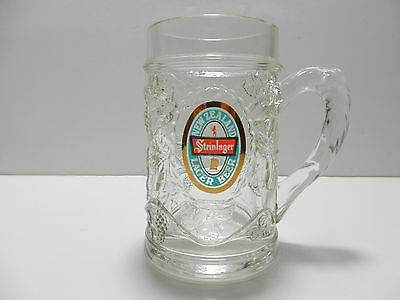 Steinlager Embossed Grapevine Lager Beer Mug Auckland, New Zealand Brewery