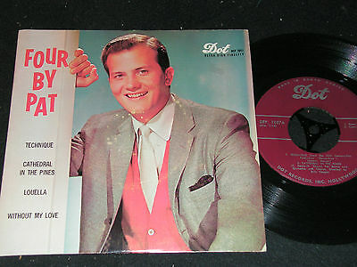 PAT BOONE Four By Pat / South African 4-track SP 1957 DOT DEP-1057