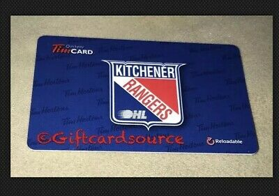 TIM HORTONS CANADA Ohl Kitchener Rangers Gift Card 2014 No Value #6102  Fd42334