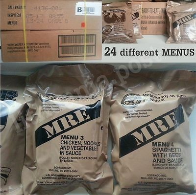 Food Ration MILITARY ARMY Daily Pack US MRE Emergency Set Combats 2018 Insp Date