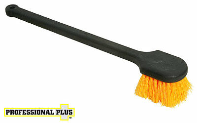 "gong SCRUB BRUSH STIFF Bristle 20"" long Handle toilet Pro Plus Rubbermaid X223"