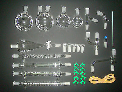 NEW Advanced Organic Chemistry Lab Glassware Kit 24/40,Chemistry Glass Kit