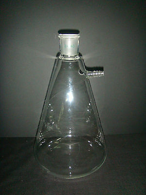 Glass Filter Suction Flask,2000ML,24/40,2L Filtration Bottle With Side Arm
