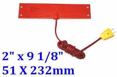 """2""""x 9 1/8""""120V 100W 4 eyelets in short side W/ Plug  silicone rubber heater 1 PC"""