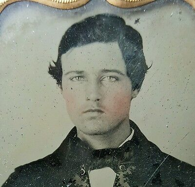 Antique Vintage American Young Guy Man Puberty Victorian Fashion Ambrotype Photo