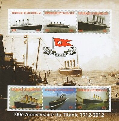 100th ANNIVERSARY OF TITANIC OCEAN LINER DISASTER 2012 MNH STAMP SHEETLET