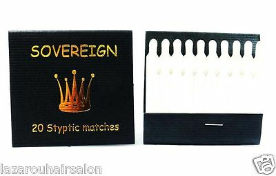 Stop Shaving Cuts Bleeding  Fast  With Styptic Matches - 5  X Packs Of 20  = 100