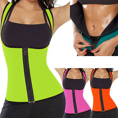 EXTREME thermo Zipper Waist Trainer Cincher Corset Body hot belt Shaper Neoprene