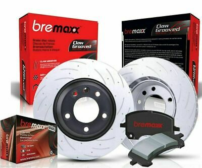 BREMBO pads & BREMAXX slotted disc brake rotors FRONT + REAR FALCON BA BF FG
