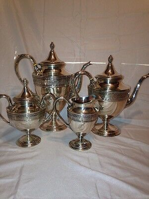 Wedgwood Sterling Silver Coffee And Tea Pot Set Service International 4pcs