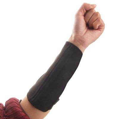 Archery Shooting Hunting Arm Guard 3 Strap Protection Gear - Black