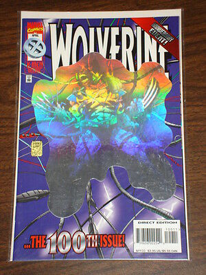 Wolverine #100 Vol1 Marvel Comics Anniversary Hologram April 1996