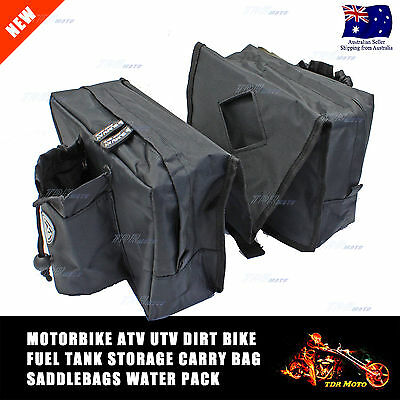 Dirt Pit Quad Bike ATV Snowmobile Scooter Motorcycle Tank Saddle Mossy CAMO Bag